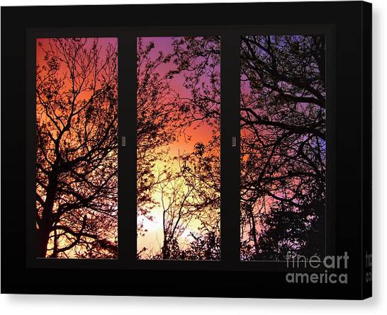 Rainbow Sunset Through Your Window Canvas Print