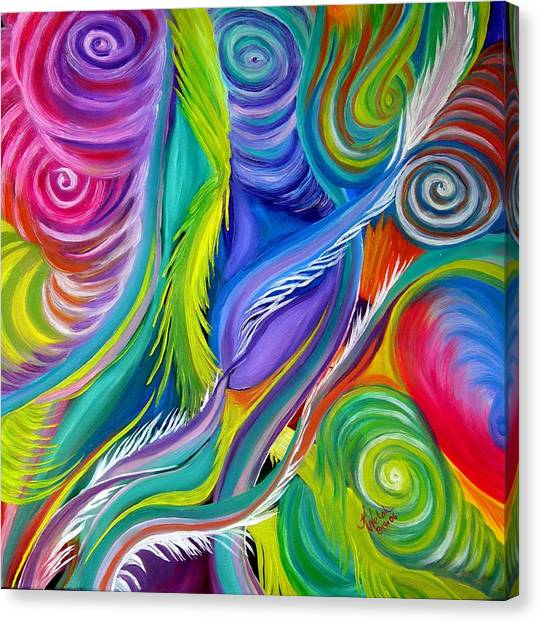 Rainbow Tornadoes Canvas Print by Kathern Welsh