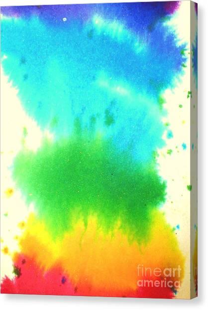 Rainbow Wash Canvas Print by Chandelle Hazen