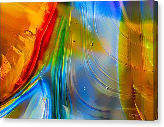 Canvas Print featuring the photograph Rainbow Waterfalls by Omaste Witkowski