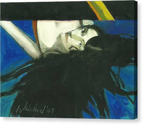 Rainbow  Woman Black Hair Canvas Print by Harry  Weisburd