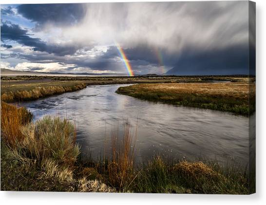 Rainbows At The Upper Owens Canvas Print