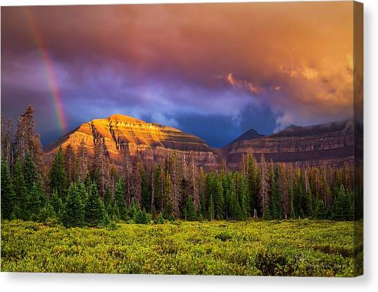 Uinta Canvas Print - Rainbows Over Gunsight II by James Zebrack