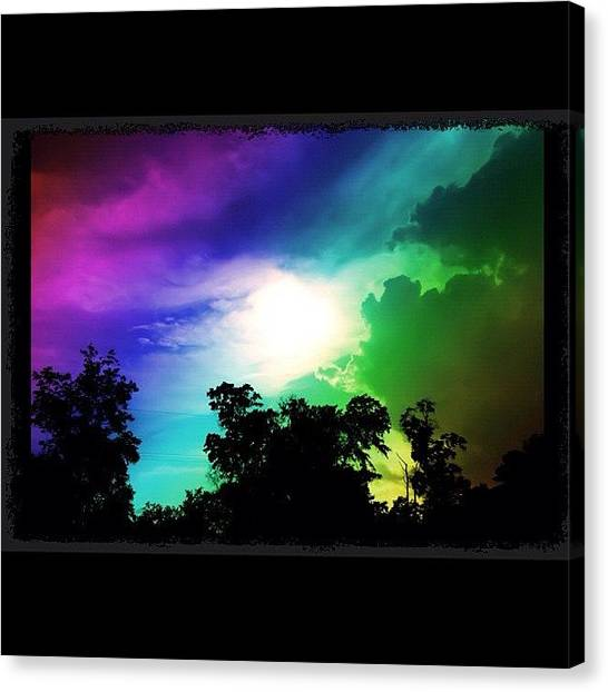 Storms Canvas Print - Rainbows R Everywhere by SpYdR B