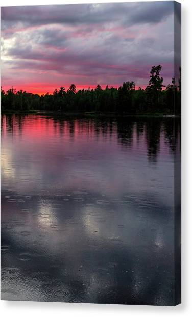Canvas Print - Raindrops At Sunset by Mary Amerman