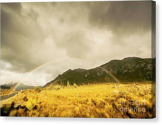Natural Landscapes Canvas Print - Raindrops In Rainbows by Jorgo Photography - Wall Art Gallery