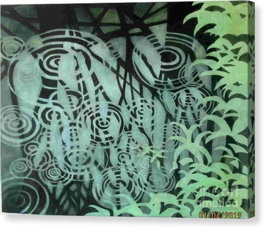 Raindrops-on-raindrops Canvas Print