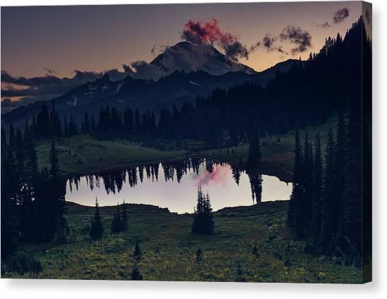 Canvas Print featuring the photograph Rainier Color by Gene Garnace