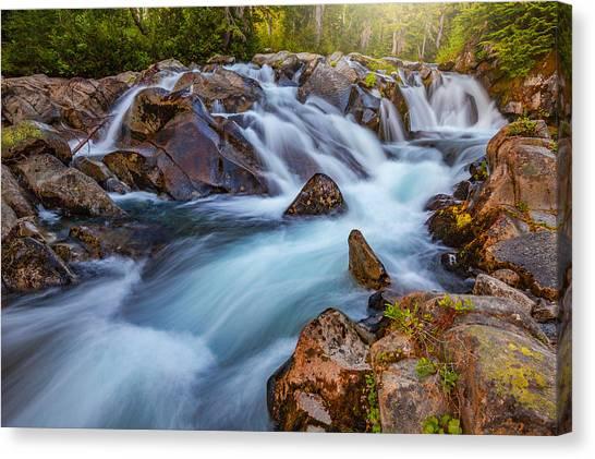 Mount Rainier Canvas Print - Rainier Runoff by Darren White