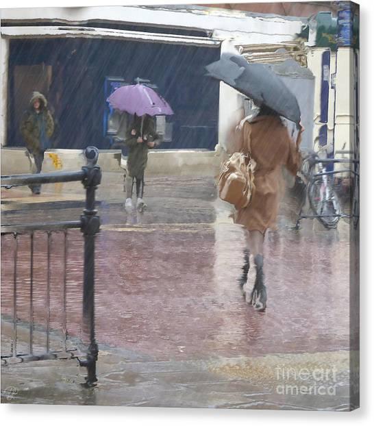 Raining All Around Canvas Print