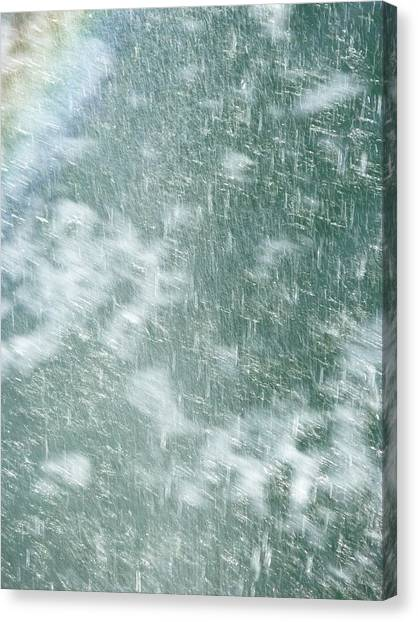 Raining In Abstract Canvas Print