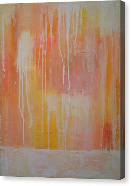 Raining White Canvas Print by Ora Birenbaum