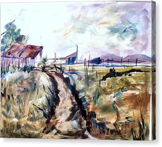 Rains Comin Canvas Print by Linda King