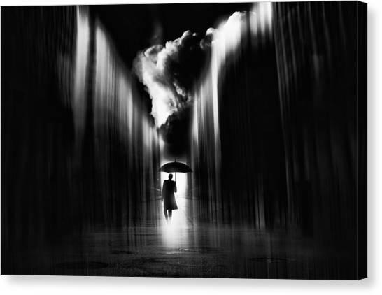 Umbrellas Canvas Print - Rainwaker by Stefan Eisele