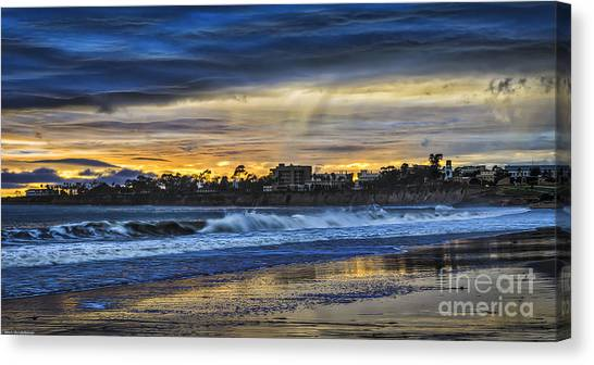 Ucsb Canvas Print - Rainy Beach by Mitch Shindelbower