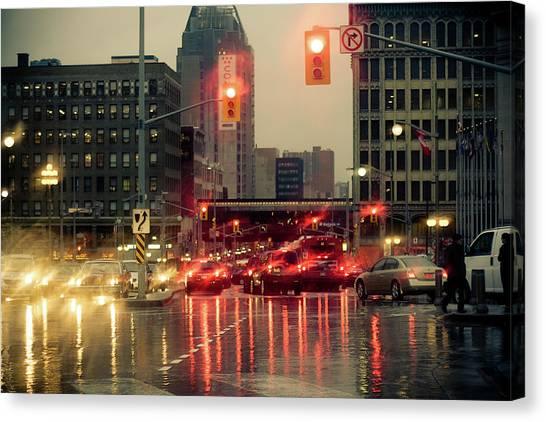 Rainy Day In Ottawa Canvas Print