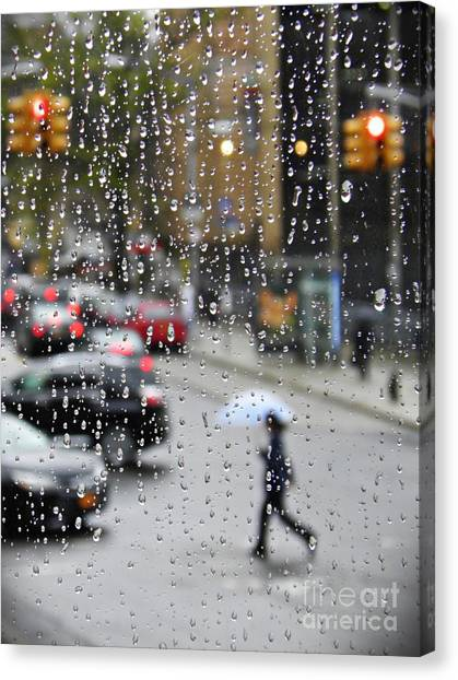 Canvas Print - Rainy Day Nyc 3  by Sarah Loft