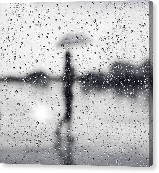 Window Canvas Print - Rainy Day by Setsiri Silapasuwanchai