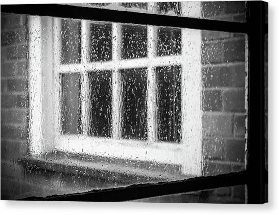 Rainy Day Window Canvas Print