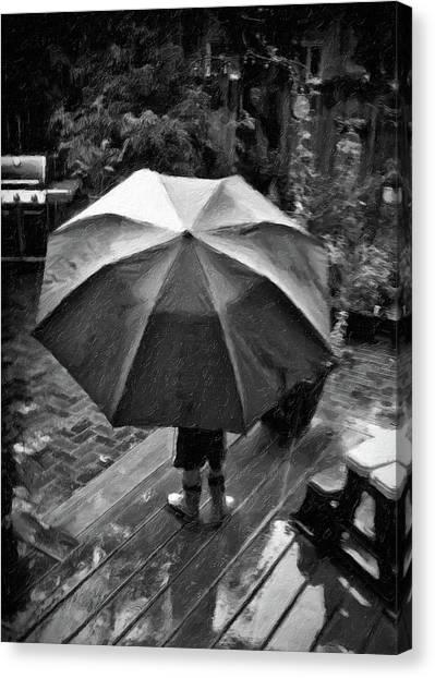 Rainy Day Canvas Print by Winnie Chrzanowski