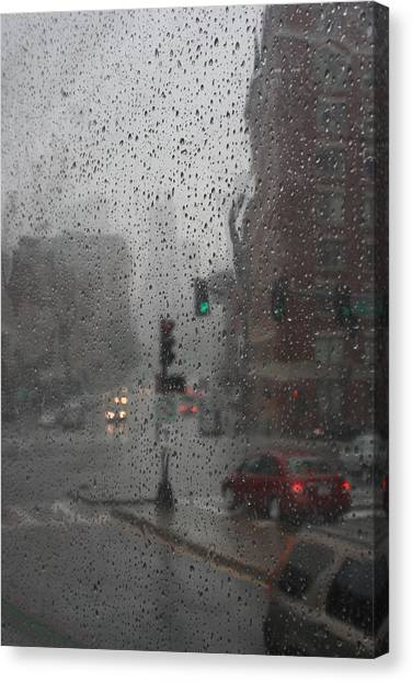 Rainy Days In Boston Canvas Print