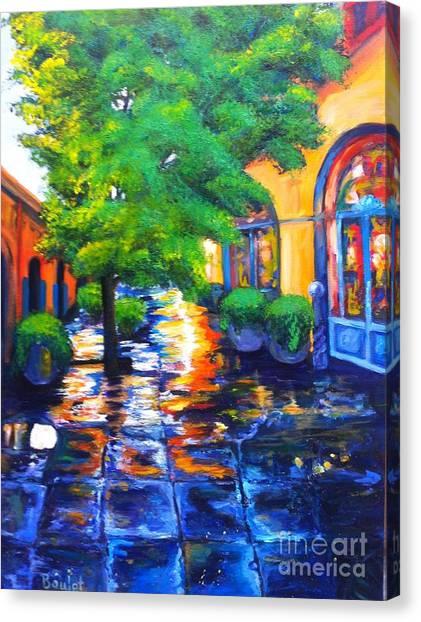 Rainy Dutch Alley Canvas Print