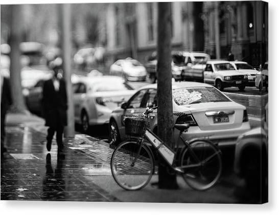 Rainy Melbourne Canvas Print by Daniel Lih