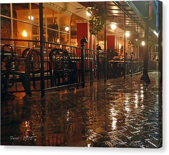 Rainy Night In Gainesville Canvas Print