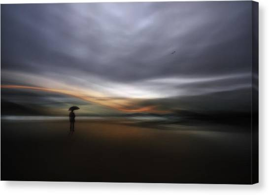 Fineart Canvas Print - Rainy Night by Santiago Pascual