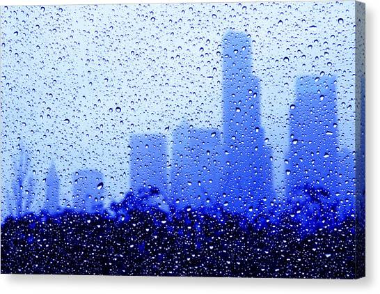 Rainy Seattle C010 Canvas Print by Yoshiki Nakamura