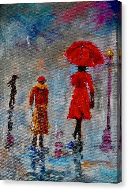 Rainy Spring Day Canvas Print