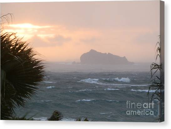 Rainy Xmas Sunrise Canvas Print