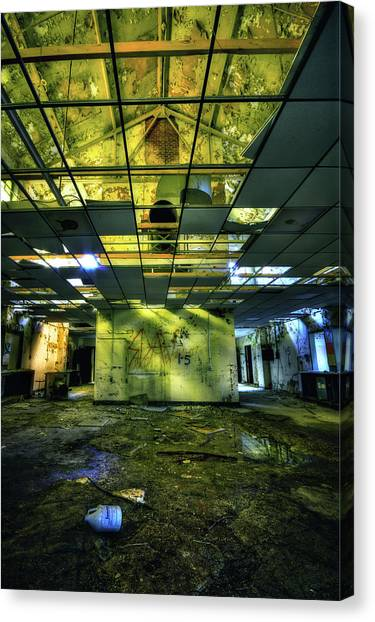 Decay Canvas Print - Raise The Roof by Evelina Kremsdorf