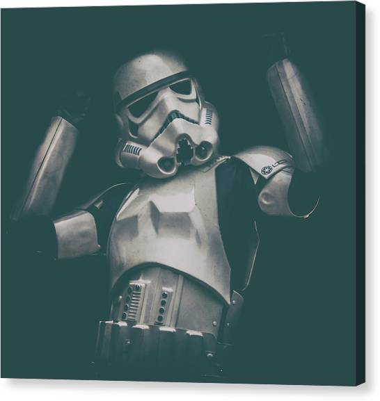 Stormtrooper Canvas Print - Raise The Roof by Martin Newman