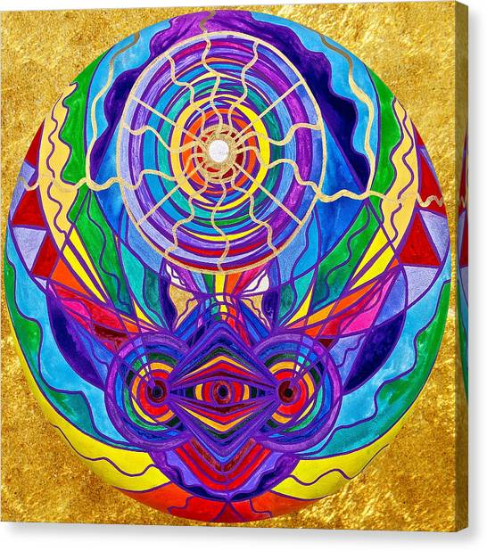 Sacred Canvas Print - Raise Your Vibration by Teal Eye Print Store