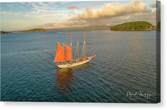 Raising The Sail Canvas Print