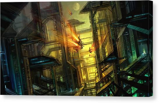Future Tech Canvas Print - Raison Detre by Philip Straub