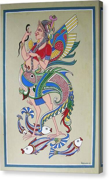 Raj Hanshi Fish Canvas Print by Rabindra Meher