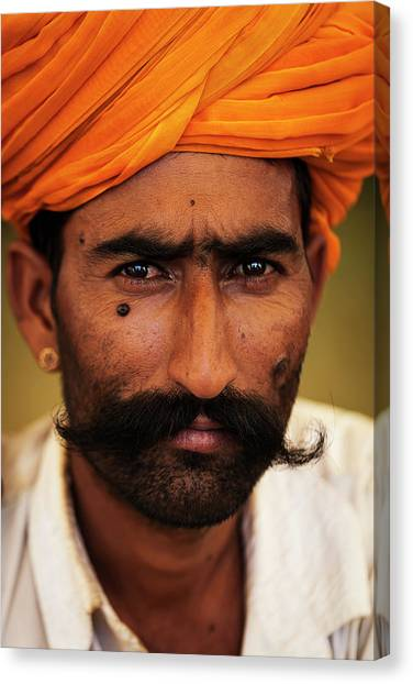 Rajasthani Man, Pushkar, India Canvas Print