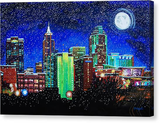Raleigh In Winter Canvas Print