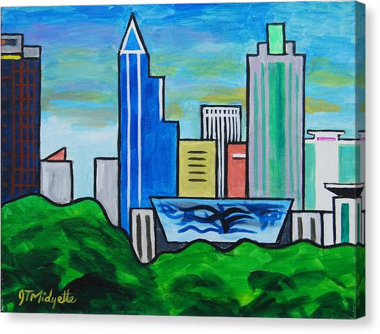 Raleigh Skyline 3 Canvas Print