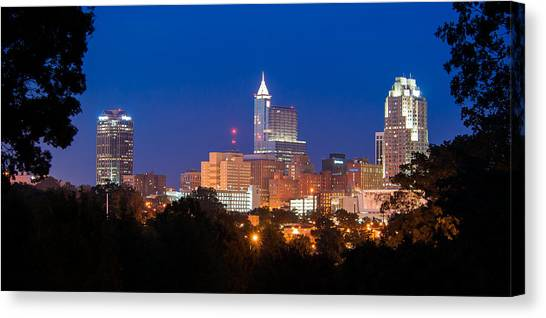 Raleigh Skyline Canvas Print