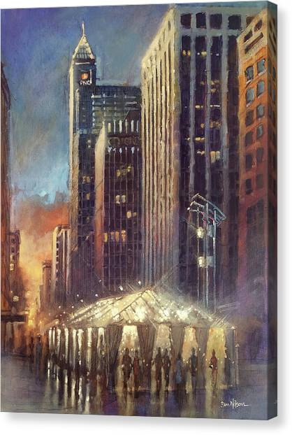 Raleigh With Symphony Tent Canvas Print