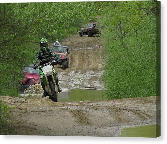 Dirt Bikes Canvas Print - Rally Race by Scott Hovind