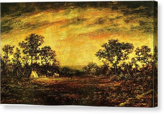 Ralph Blakelock, Indian Encampment Canvas Print