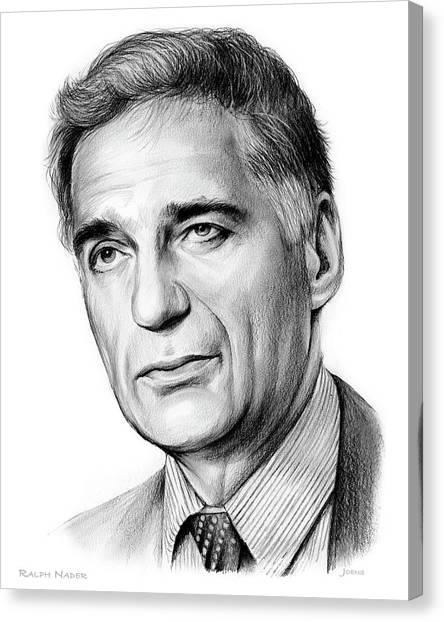 Causes Canvas Print - Ralph Nader by Greg Joens