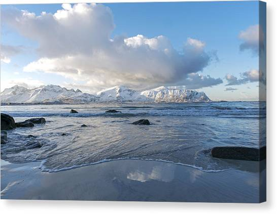 Ramberg Beach, Lofoten Nordland Canvas Print
