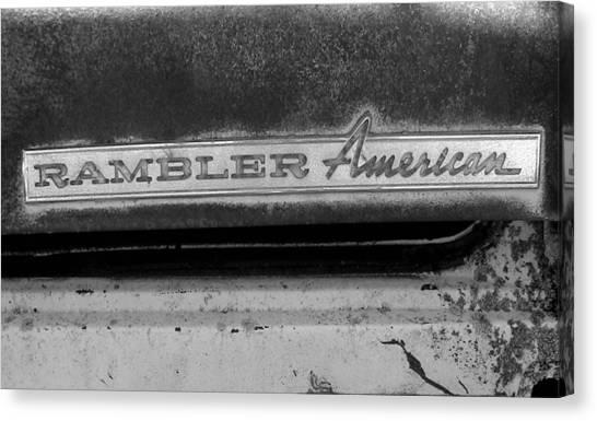 Rambler American Canvas Print by Audrey Venute