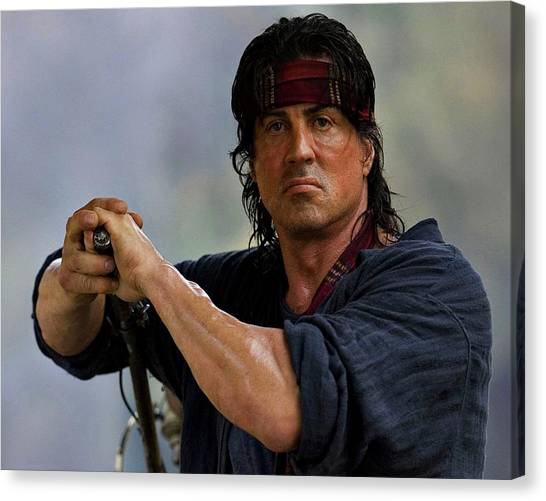 Sylvester Stallone Canvas Print - Rambo Sylvester Stallone by David Dehner