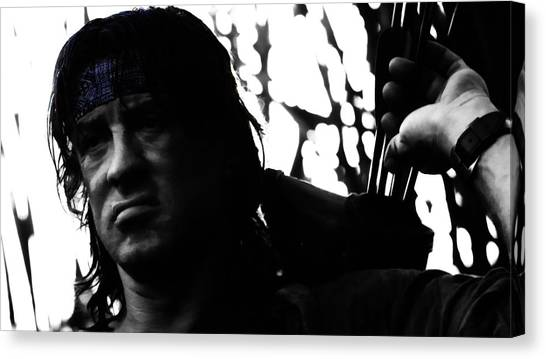 Stallone Canvas Print - Rambo They Drew First Blood by Brian Reaves